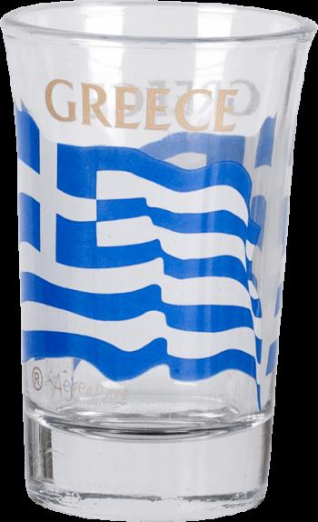 Borrelglaasje Griekse vlag