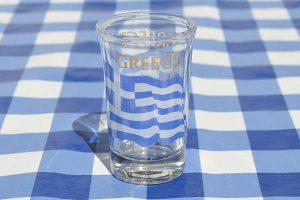 Griekse vlag Borrelglas