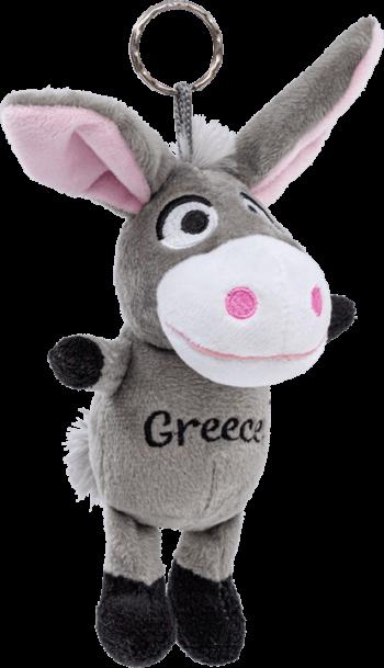 Griekse knuffel ezel sleutelhangerroze
