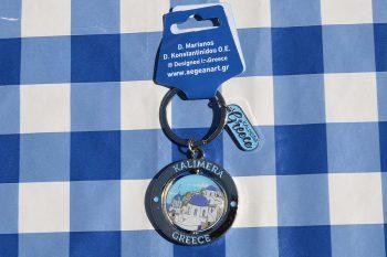 sleutelhangertje Kalimera Santorini