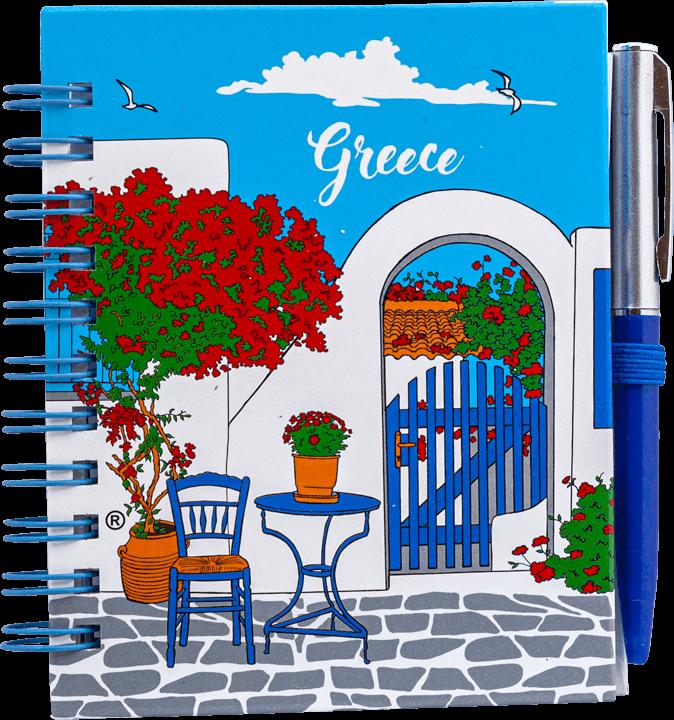 notitieboekje Grieks tafereeltje
