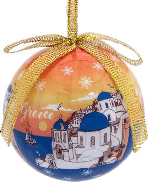 Kerstbal Santorini
