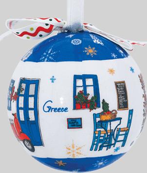kerstbal Grieks tafereel