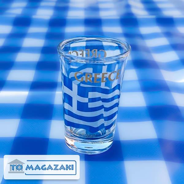 ouzo glaasje Griekse vlag