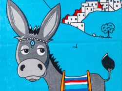 Strandhanddoek Greek donkey