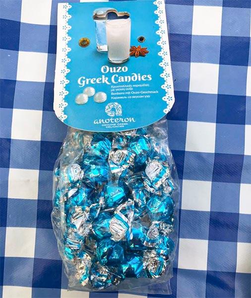 Griekse ouzo snoepjes