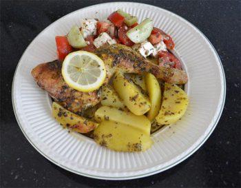 Griekse Kip met aardappels