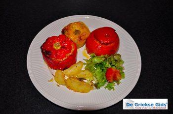 Gemista gevulde tomaten