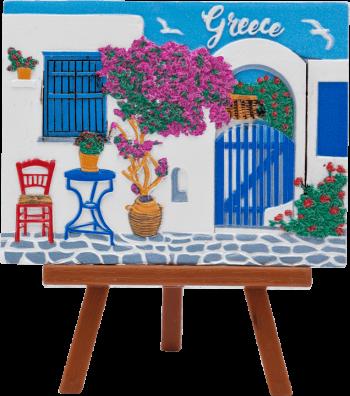 Schilderijtje Grieks tafereel