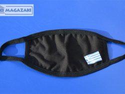 Zwart mondkapje kleine Griekse vlag