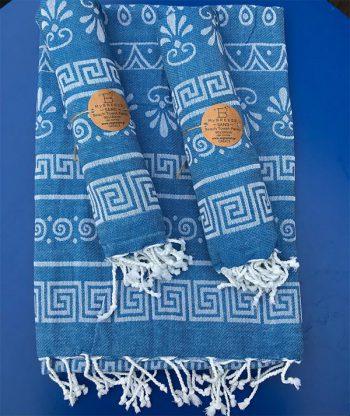 Hamam handdoek Griekse symbolen