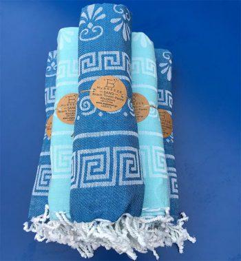 Hamam handdoek pareo Griekse symbolen