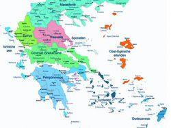 Landkaart Griekenland