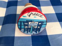 Griekse kurk voor wijnfles
