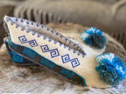 blauwe pantoffel maat 44