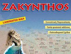 Landkaart wegenkaart Zakynthos