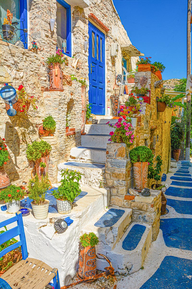 Blauw straatje Samos