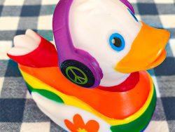 Love is love Greek duck